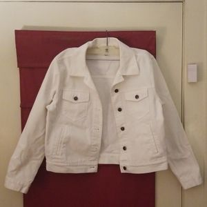 Women's Talbots white jean jacket